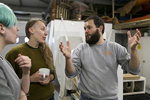Visiting manufacturers: Gabriel Polishing, French Polishers, Edinburgh, 2014