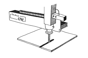 CNC Machining Illustration