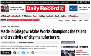 Make Works press on The Daily Record