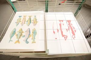 Screenprints on paper by Eastend Press