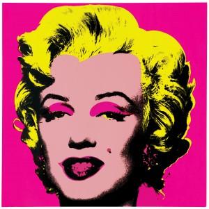 Screen print of Marilyn Monroe by Andy Warhol