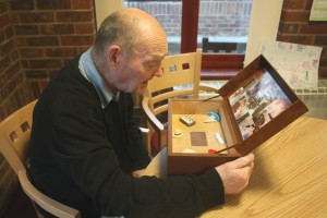 Adrian Clarke with his Music Memory Box, by Chloe Meineck