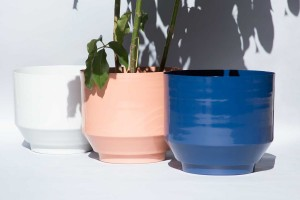Powdercoated planters by Yield Design