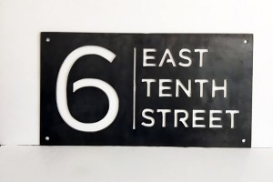 Example of plasma cut signage.