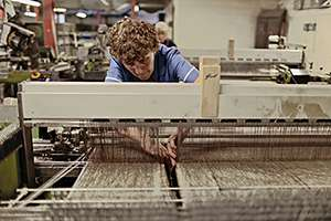Weaving at Peter Greig & Co