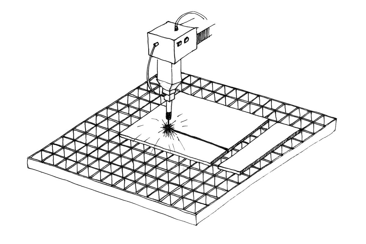 Laser Cutting Illustration
