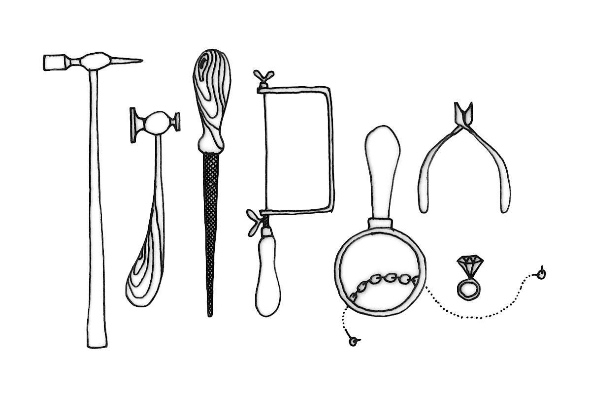 Jewellery Making Illustration