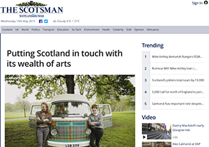 Make Works press in The Scotsman